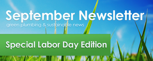 Green Plumbers September Newsletter