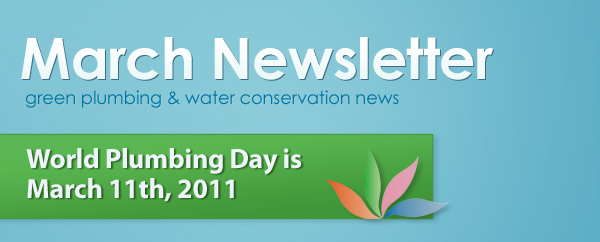 Green Plumbers March Newsletter